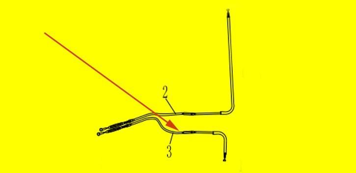 parking brake câble left section XYJK800 4WD