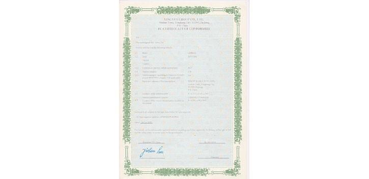 COC EEC certificat homologation M DUBOIS