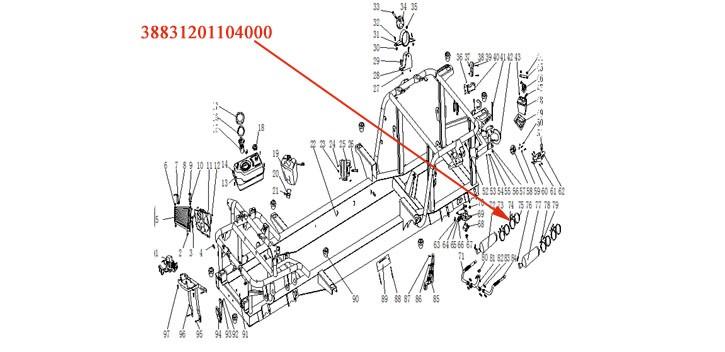 Schalldämpfer Schelle (Edelstahl Eisen) XYJK800