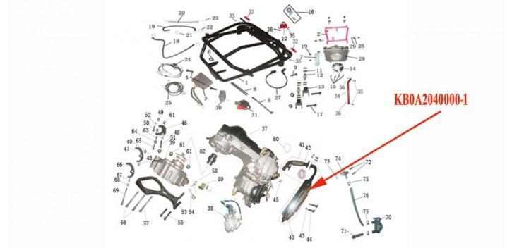 Kinroad 250 cc Abgasschalldämpfer