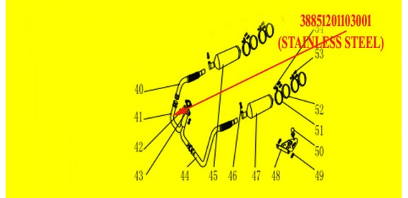 MUFFLER Y-PIPE(STAINLESS STEEL) XYUTV800
