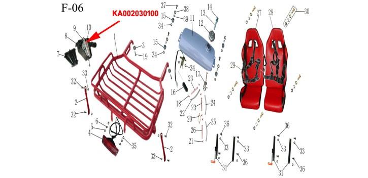 Filtro de aire Kinroad 150cc