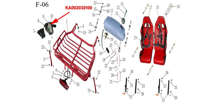 Kinroad air filter 150cc