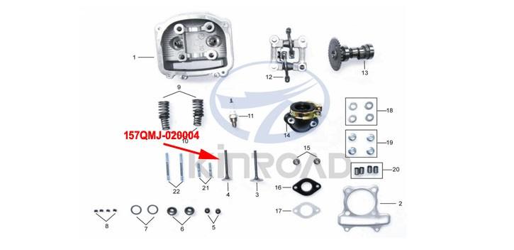 exhaust valve kinroad 150cc
