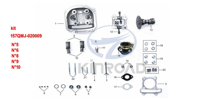 kinroad valve spring kit 150 cc