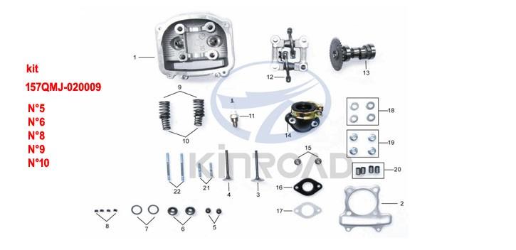 Kinroad Ventilfedersatz 150 cc