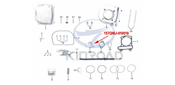Cam Chain Adjuster kinroad 150 cc