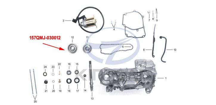 Final gear KINROAD 150 CC