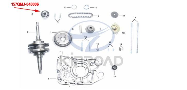 Oil Pump KINROAD 150 CC