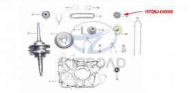 oil pump chain wheel KINROAD 150 CC