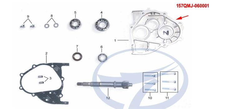 cover,gear case KINROAD 150 CC