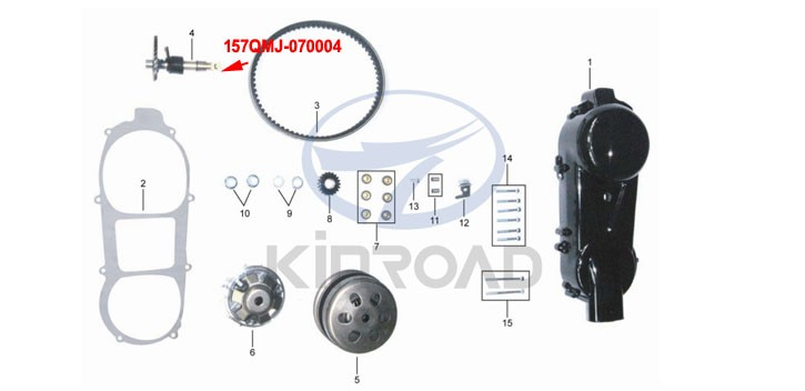 START SHAFT KINROAD 150 CC