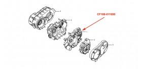 CF500 left crankcase