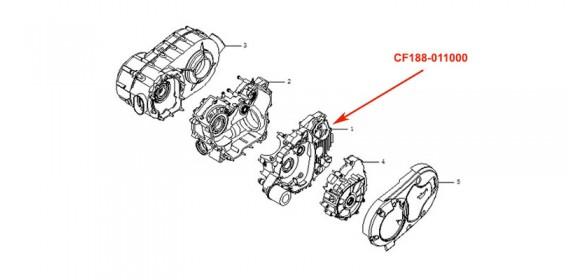 Carter moteur gauche CF500
