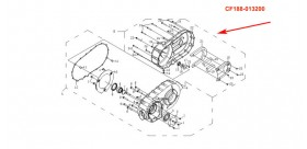 CFMoto 500cc CF188 CVT Cover Comp