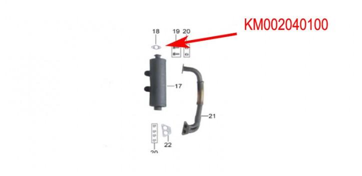 junta de escape kinroad 650 cc
