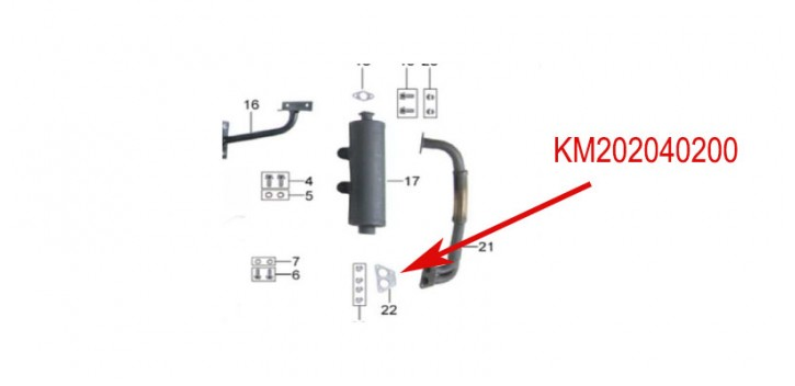 exhaust joint kinroad 650 cc