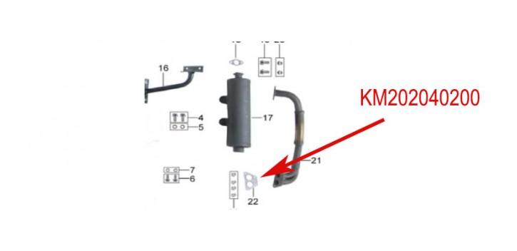 joint echappement kinroad 650 cc
