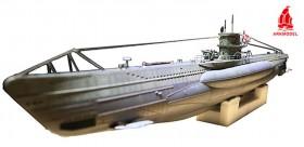 U-Boat tedesco tipo kit sottomarino VIIC 1/48 con kit WTC