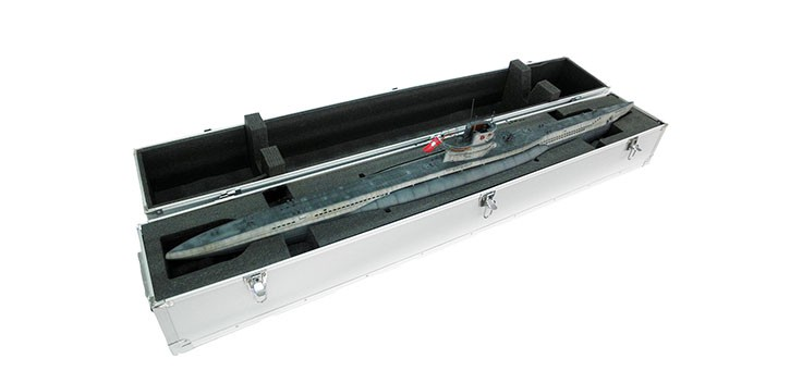 Aluminum alloy box for the submarine 1 48 type VIIC