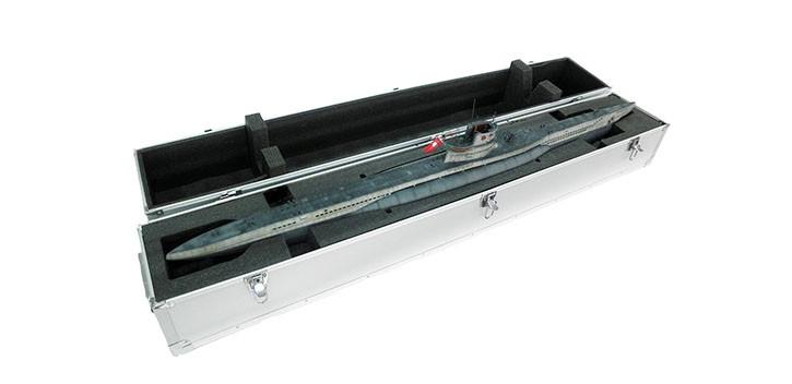 Coffret en alliage aluminium pour le sous-marin 1 48 de type VIIC