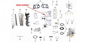 INTAKE PIPE ASSY kinroad 800cc 1100 cc