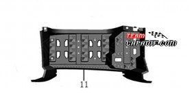 Repose-pieds gauche ODES 800