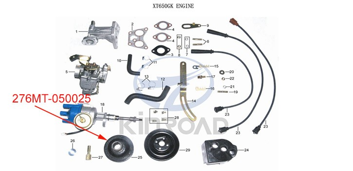 Driving pulley Kinroad 650 cc