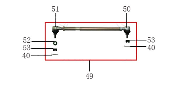 Ball joint, steering pulling bar Left-hand screw