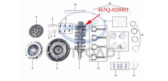 Kinroad 800 crankshaft 1100cc
