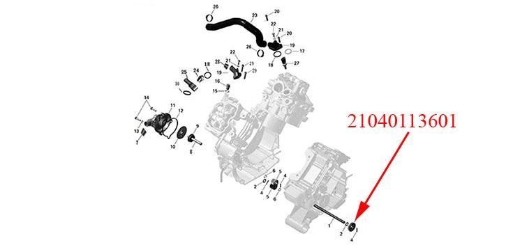 Water pump gear z 20 Odes 1000cc
