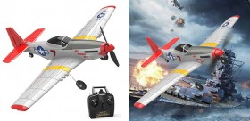 RC Mini Mustang P51D 4-Ch Airplane with Xpilot Stabilizer RTF