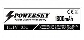 PowerSky LiPo 11.1V 1800mAh 3S 35C