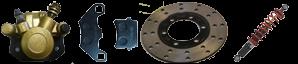Sistema de frenos Kinroad 150cc amortiguadores