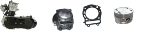 Elementos del motor Kinroad 650cc