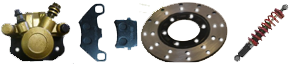 Freins système Amortisseurs Kinroad 650 cc
