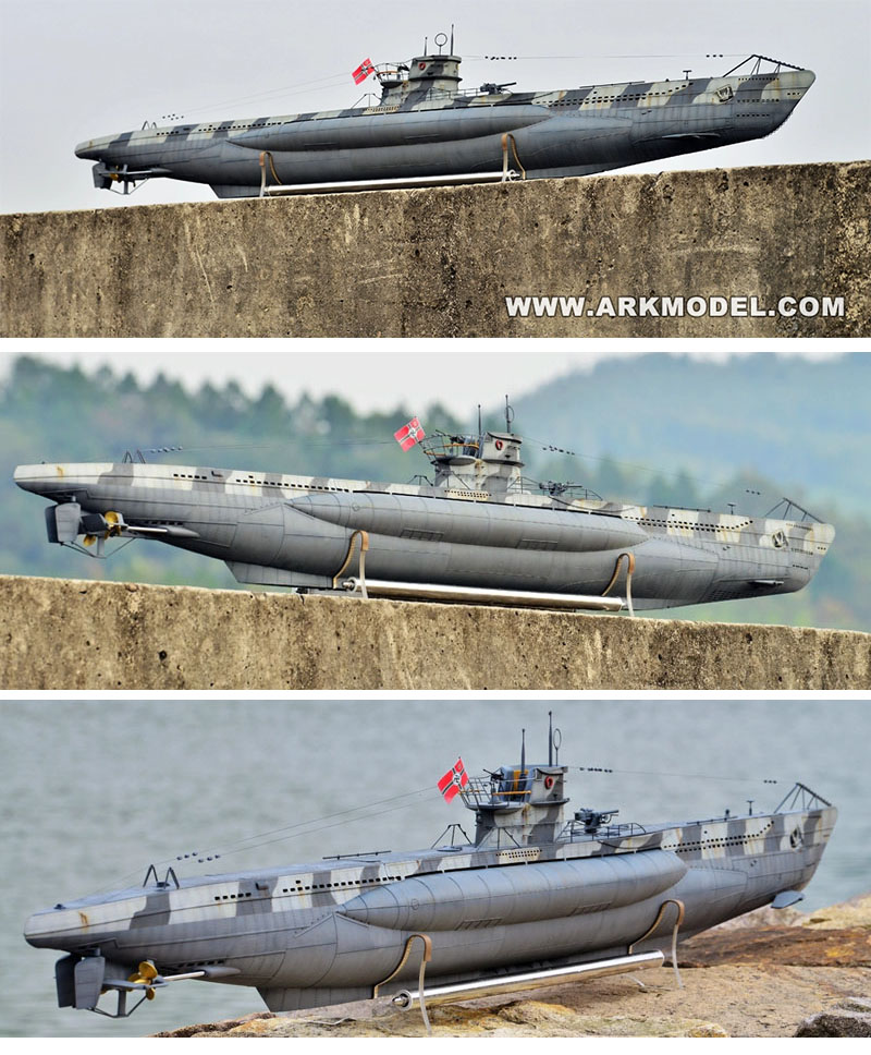 U-Boat allemand Type VIIC sous-marin au 1/48 Kit