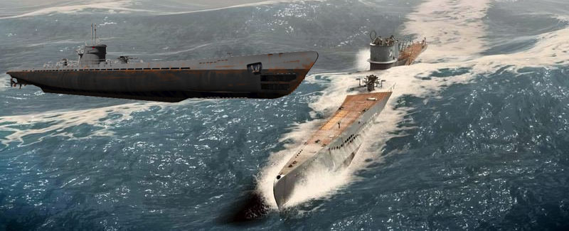 U-Boat allemand Type VIIC sous-marin